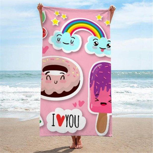Ręcznik plażowy prostokątny mały 150x70 Sweet REC45WZ4