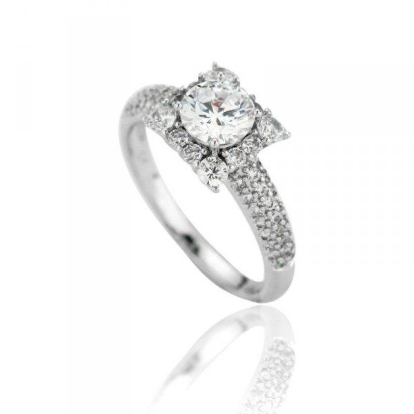 Pierścionek stal chirurgiczna platerowana złotem 560, Rozmiar pierścionków: US6 EU11