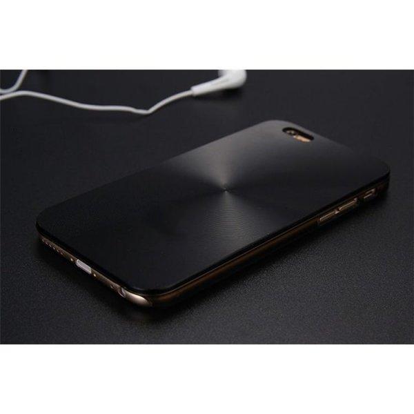 ALUMINIOWE ETUI CASE NA TELEFON IPHONE 6/6S - CZARNE ETUI20