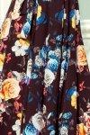 wzorzysta sukienka maxi z hiszpańskim dekoltem