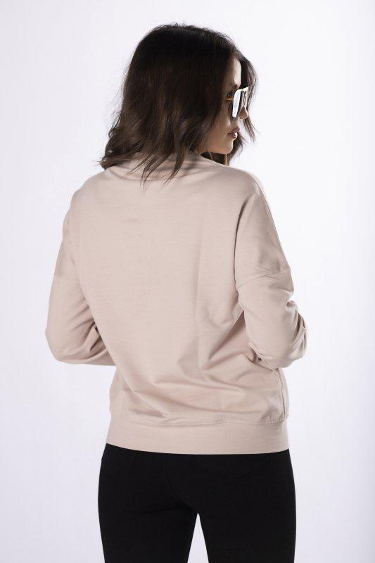 bawełniana bluza z nadrukiem na biuście
