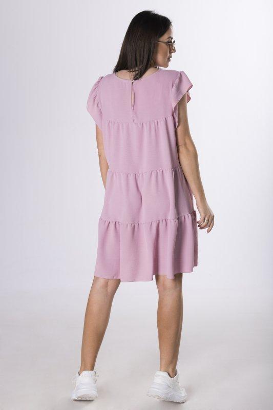 oversize'owa sukienka z falbanami