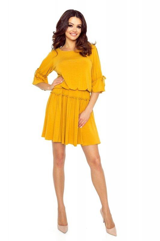 sukienka ze ściągaczem w pasie