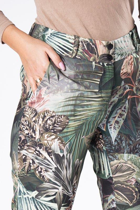 klasyczne spodnie cygaretki z nogawkami w kant