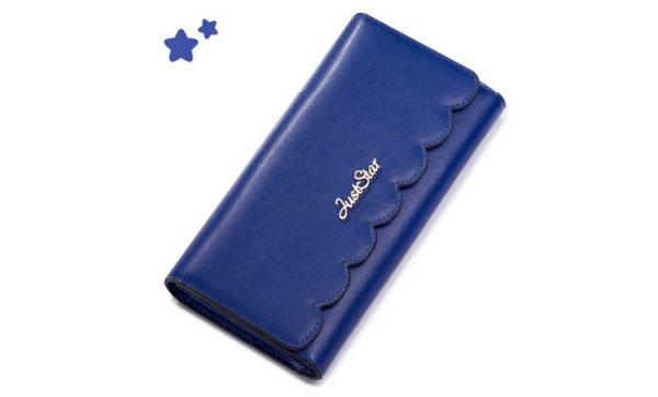 JUST STAR szykowny portfel skórzany Różowy