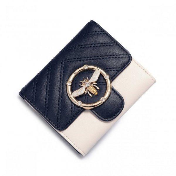 Elegancki portfel z pszczółką