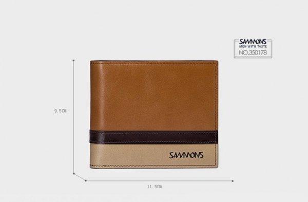 Krótki poziomy męski portfel Niebieski