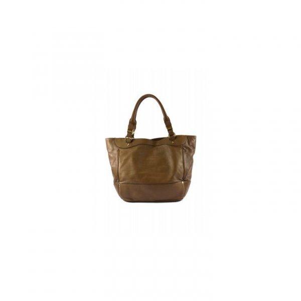 Pojemna skórzana brązowa torba Gianfranco Ferre