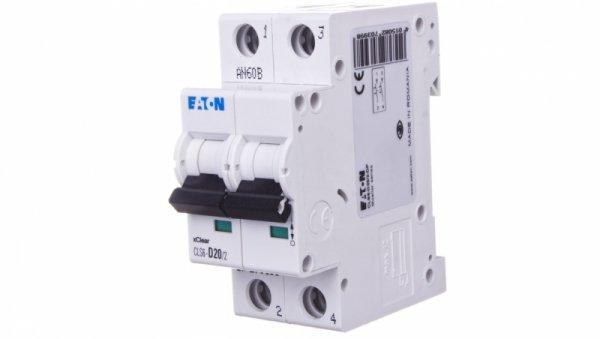 Wyłącznik nadprądowy 2P D 20A 6kA AC CLS6-D20/2-DP 270399