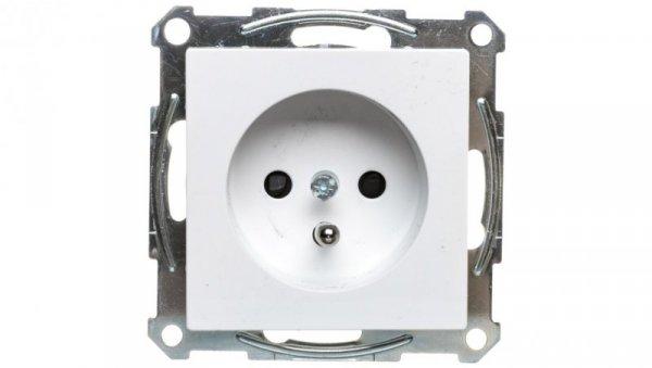 Merten System M Gniazdo pojedyncze z/u 16A IP20 z przesłonami białe MTN2600-0325