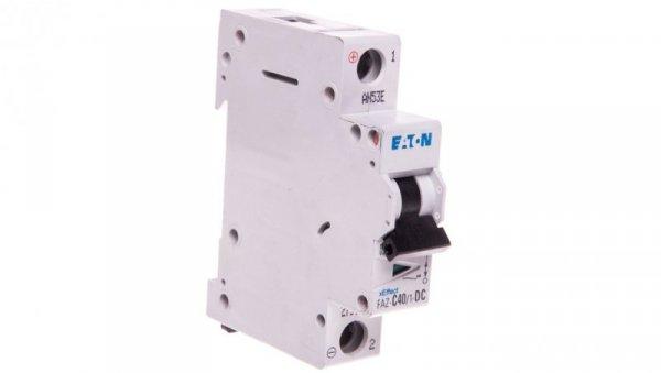 Wyłącznik nadprądowy 1P C 40A 15kA DC FAZ C40/1-DC 279132