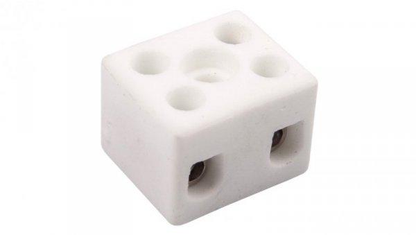 Złączka gwintowa porcelanowa 4mm2 2-tory biała CPO-5A-2P 80712516
