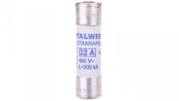 Wkładka bezpiecznikowa cylindryczna 14x51mm 32A aR 690V CH-S14UQ 002635115