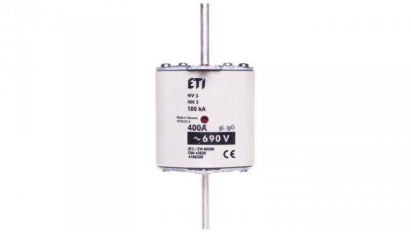 Wkładka bezpiecznikowa KOMBI NH3 400A gG 690V WT-3 004186329