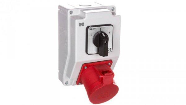 Zestaw instalacyjny z gniazdem 32A 5P RS-Z (L-0-P) czerwony 6274-20
