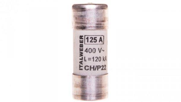 Wkładka bezpiecznikowa cylindryczna 22x58mm 125A gG 400V CH22P /z wybijakiem/ 006711028