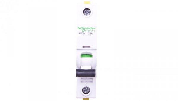 Wyłącznik nadprądowy 1P D 2A 6kA AC iC60N-D2 A9F05102
