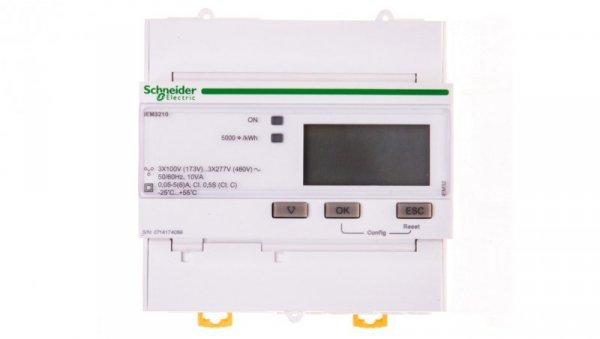 Licznik energii elektrycznej 1/3-fazowy 5A przekładnik 100-277/173-480V kl.0,5S/C impulsowy MID cyfrowy iEM3210 CT A9MEM3210