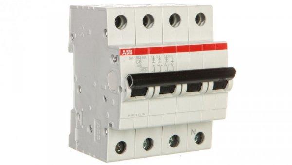 Wyłącznik nadprądowy 3P+N C 8A 6kA AC SH203-C8 NA 2CDS213103R0084