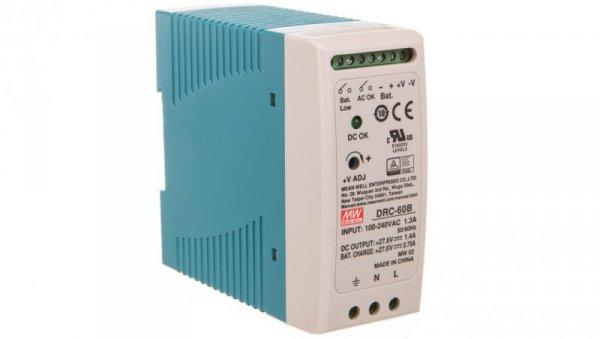 Zasilacz buforowy 90-264V AC / 27,6V DC 1,4A 59,34W DRC-60B