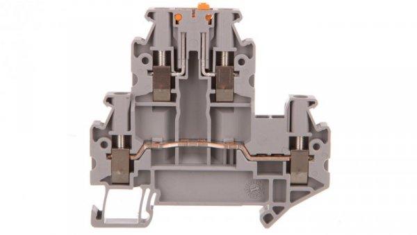 Złączka przelotowa 4-przewodowa z odłącznikiem nożowym 2,5mm2 szara UTTB 2,5-MT-P/P 3044640 /50szt./