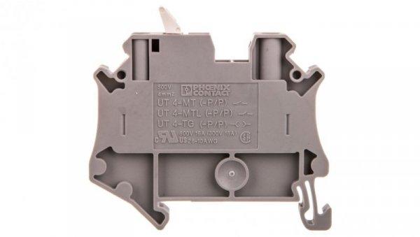 Złączka przelotowa 2-przewodowa z odłącznikiem nożowym 4mm2 szara UT 4-MTL-P/P KNIFE-WH 3046150 /50szt./