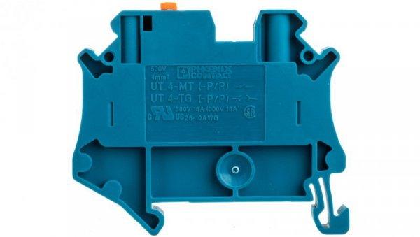 Złączka przelotowa 2-przewodowa z odłącznikiem nożowym 4mm2 niebieska UT 4-MT-P/P BU 3046265