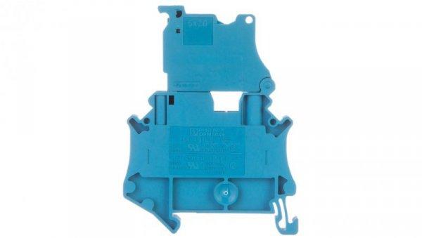 Złączka szynowa z bezpiecznikiem 5x20 6,3A 2-przewodowa 4mm2 niebieska UT 4-HESILED 24 (5X20) BU 3046537 /50szt./