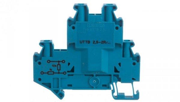 Złączka szynowa elementów kontrolnych 2-piętrowe 4-przewodowa 2,5mm2 szara UTTB 2,5-2R BU/NAMUR 3046672 /50szt./
