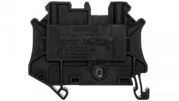 Złączka szynowa 2-przewodowa 4mm2 czarna Ex UT 4-MTD BK 3047691 /50szt./