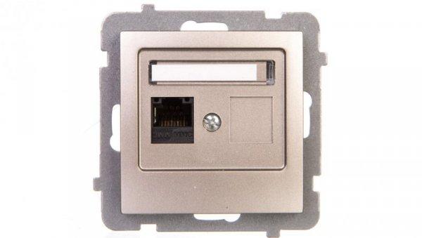 AS Gniazdo komputerowe pojedyncze RJ45 kat.5e MMC satyna light GPK-1G/K/m/45