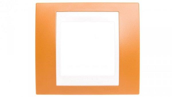 Unica Plus Ramka pojedyncza ugier pomarańczowy pozioma MGU6.002.869