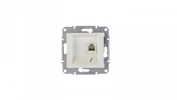 Sedna Gniazdo telefoniczne pojedyncze RJ11 białe SDN4101121
