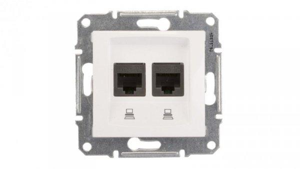 Sedna Gniazdo komputerowe podwójne RJ45 kat.5e UTP białe SDN4400121