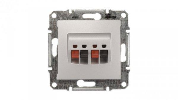 Sedna Gniazdo głośnikowe podwójne aluminium SDN5400160