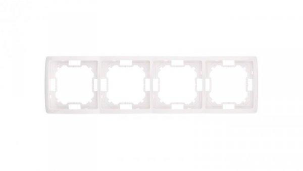 Simon Basic Standard Ramka poczwórna uniwersalna biała BMR4/11