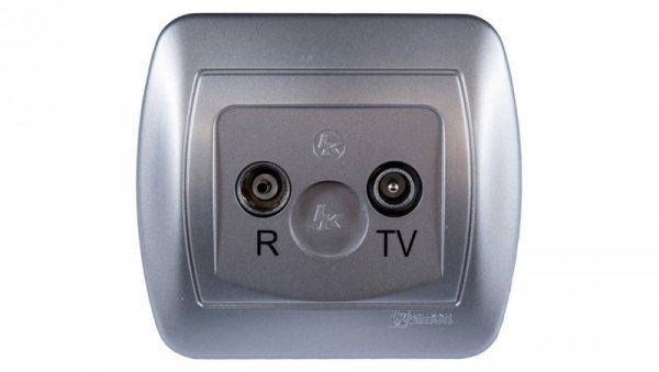 Simon Akord Gniazdo antenowe RD/TV końcowe separowane aluminium metalizowane AAK/26