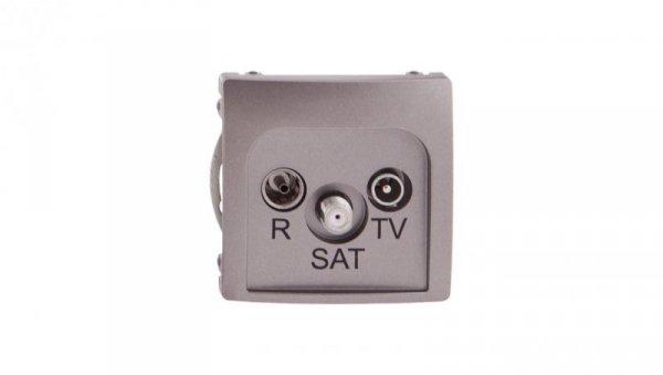 Simon Basic Gniazdo antenowe RD/TV/SAT końcowe stal inox BMZAR-SAT1.3/1.01/21