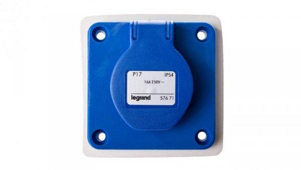 Gniazdo tablicowe z uziemieniem IP44 niebieskie 2P+Z P17 057671