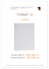 plakat B1,  druk pełnokolorowy jednostronny 4+0, na papierze kredowym, 130 g, 200 sztuk