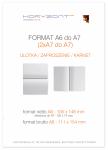 ulotka A6 składana do A7, druk pełnokolorowy obustronny 4+4, na papierze kredowym, 130 g, 2500 sztuk