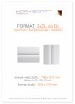 ulotka 2xDL składana do DL, druk pełnokolorowy obustronny 4+4, na papierze kredowym, 130 g, 10000 sztuk ! Cena promocyjna