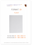 plakat B1, druk pełnokolorowy jednostronny 4+0, na papierze kredowym, 130 g, do 5 sztuk