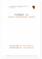 ulotka A4, druk pełnokolorowy obustronny 4+4, na papierze kredowym, 170 g, 2500 sztuk