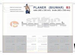 planer na biurko B3 - 26 kart, druk jednostronny pełnokolorowy 4+0, offset 90g, klejony - 700 sztuk