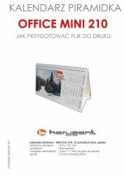 kalendarz biurkowy Mini 210 - spiralowany 13 autorskich kart jednostronnych, 210 x 110 mm - 500 sztuk
