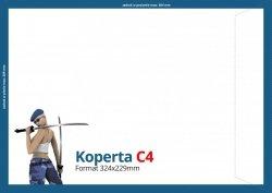 Koperty C4 (324 x 229 mm), Druk jednostronny kolorowy 4+0, Offset 80 g - 800 szt.
