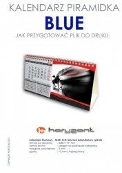 kalendarz biurkowy piramidka - BLUE - 25 sztuk