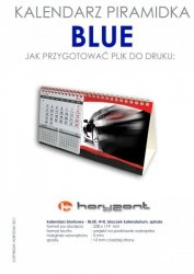 kalendarz biurkowy piramidka - BLUE - 400 sztuk