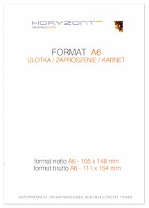 ulotka A6, druk pełnokolorowy obustronny 4+4, na papierze kredowym, 170 g, 10000 sztuk